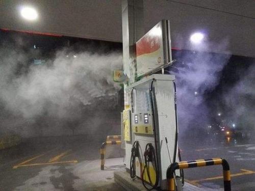 加油站防暑喷雾降温
