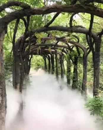 园林造景喷雾降温