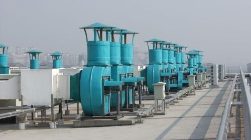 郑州安图生物制药厂楼顶风机